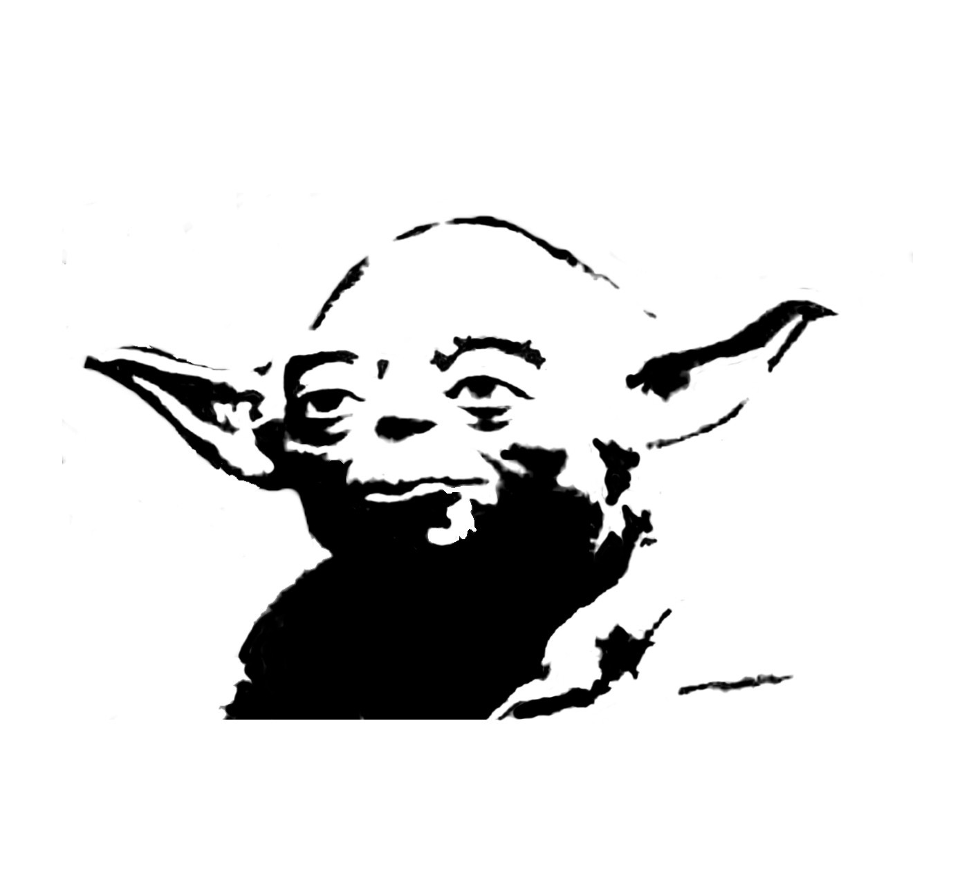 Line Art Yoda : Star wars yoda black and white clipart suggest