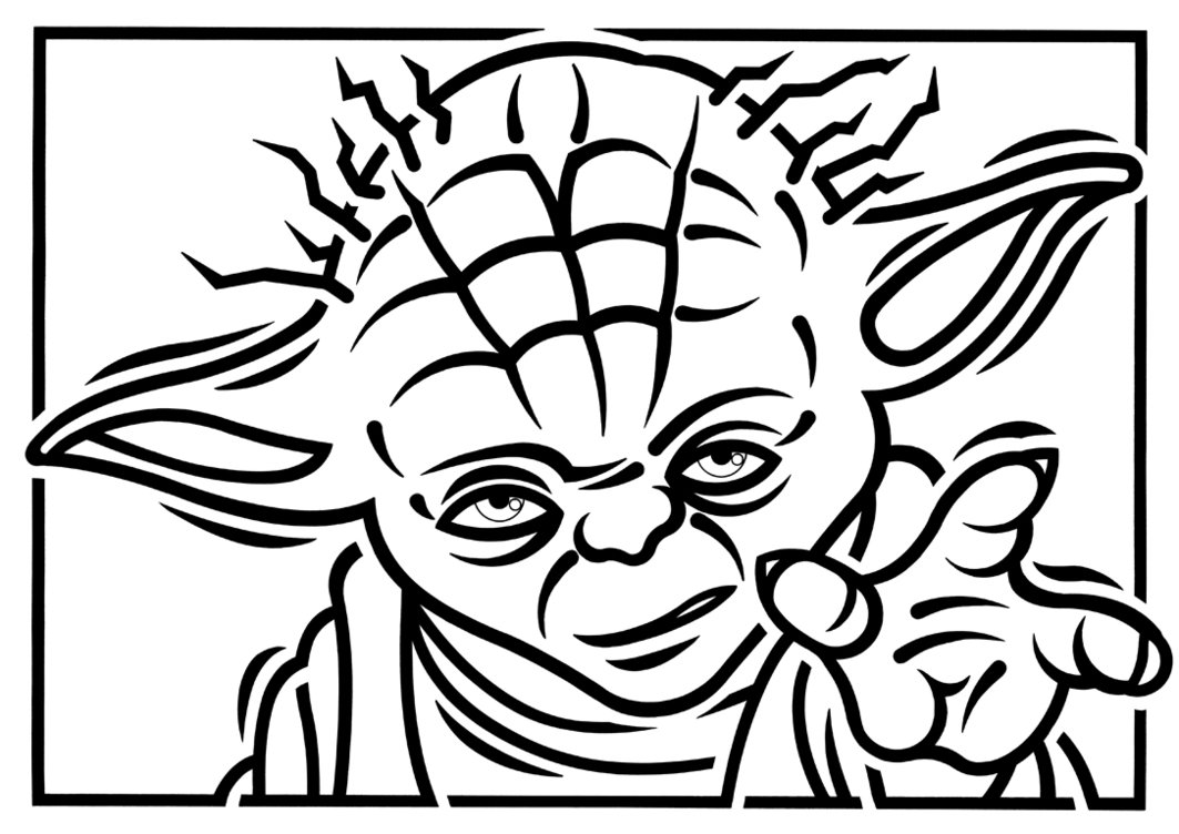 Star Wars Yoda Black And White