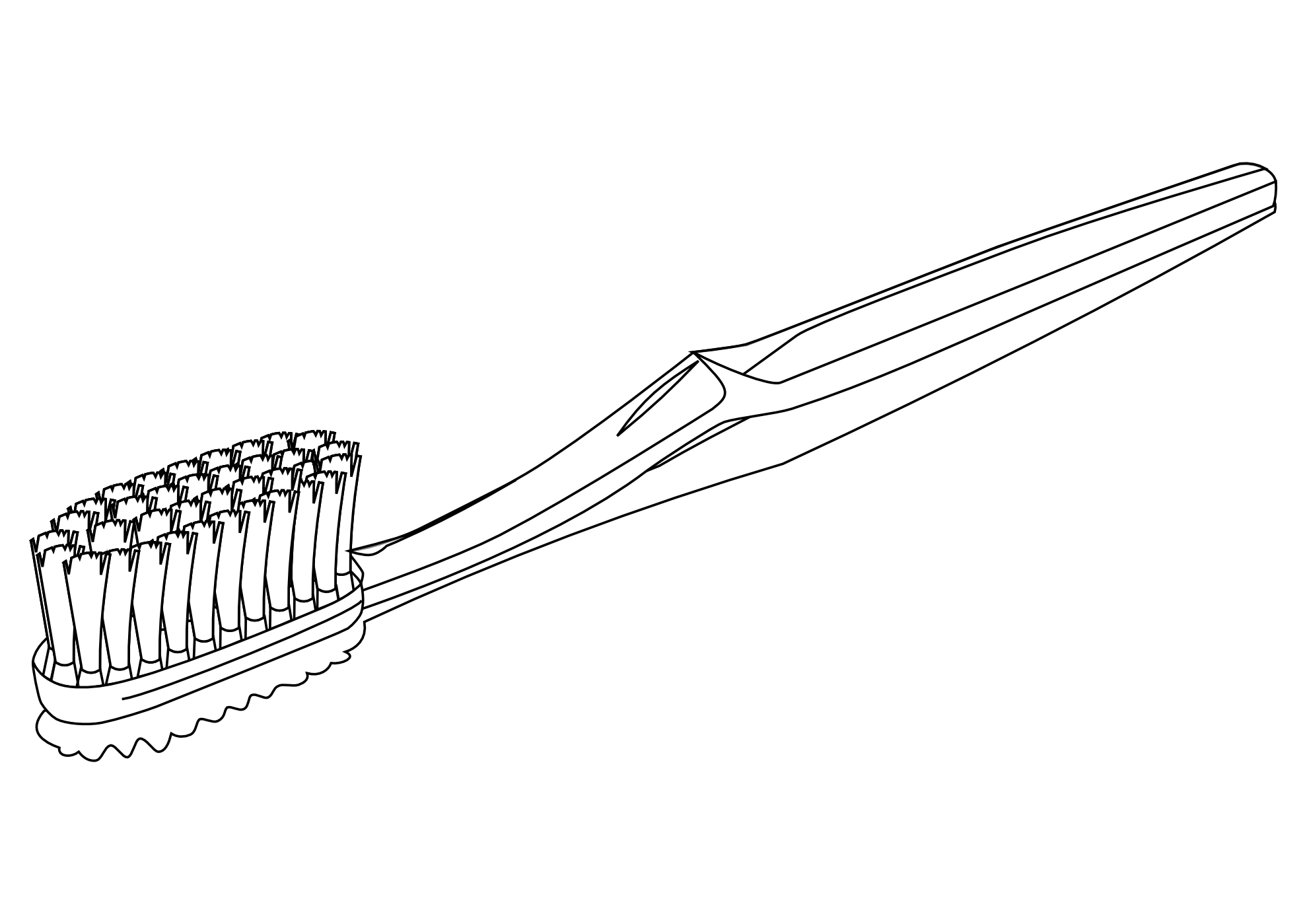 Brush Hair Clipart Black And White  Toothbrush Clipart Black And