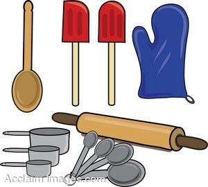 Clip Art Of Items Used For Baking
