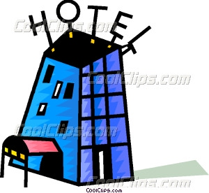 Colorful Hotel Vector Clip Art