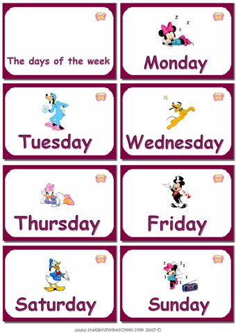 Days Of The Week Learning Funny English