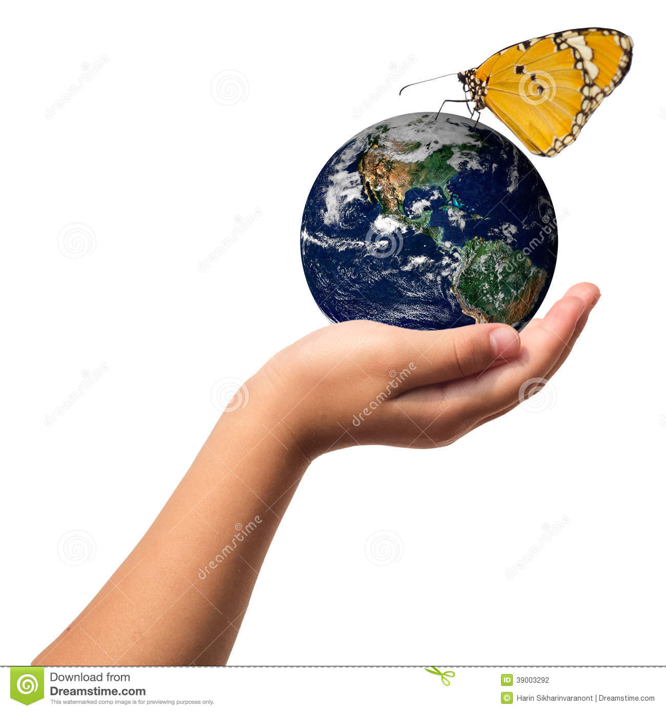 Earth Care With Helping Hands Concept Stock Photo   Image  39003292