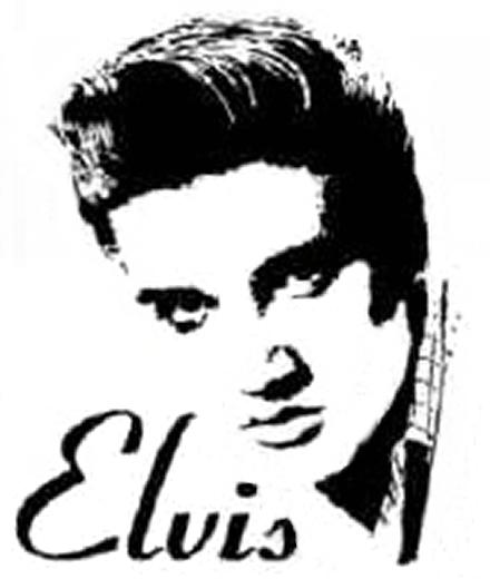 Elvis Presley Black And White Cake Stencils