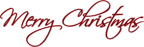 Free Merry Christmas Clip Art Merry Christmas Script Red Png