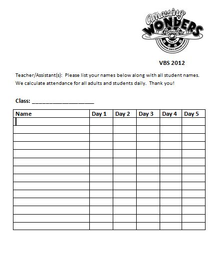 Attendance Sheet Clipart - Clipart Kid