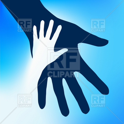 Helping Hands Child And Adult 7761 Silhouettes Outlines Download