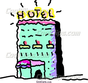 Hotels And Motels Vector Clip Art