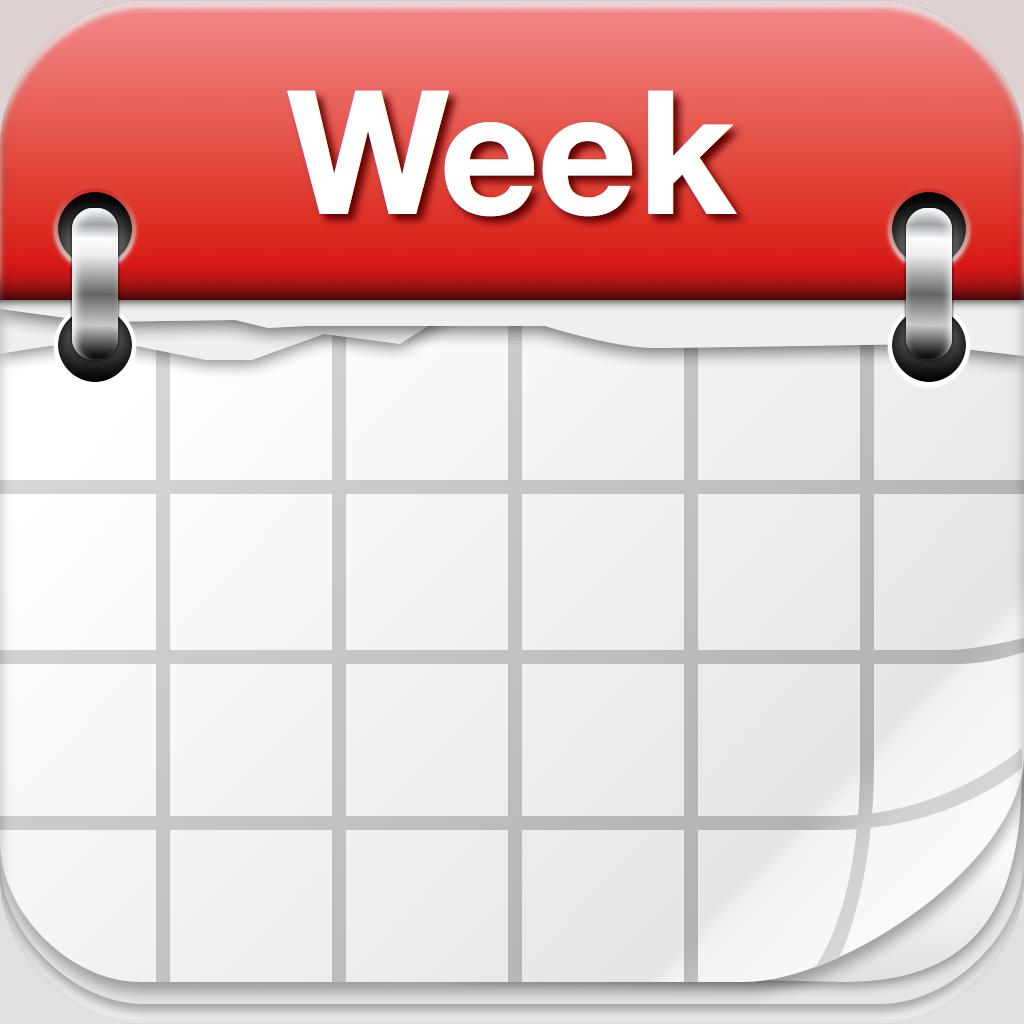 Weekly Calendar Clipart : Days of week calendar clipart suggest