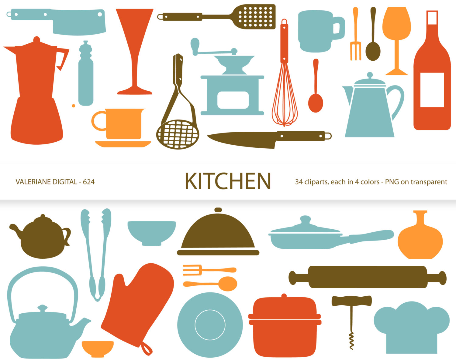 Kitchen Clipart S Retro Kitchen Utensils By Valerianedigital
