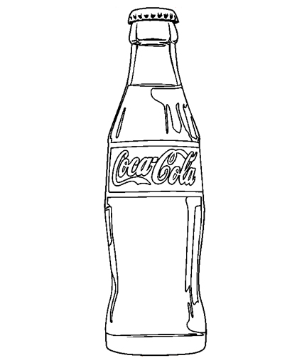Coca cola bottle clipart clipart suggest for Coloring pages of bottles