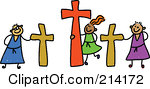 Royalty Free Rf Clipart Illustration Of A Childs Sketch Of Calvary