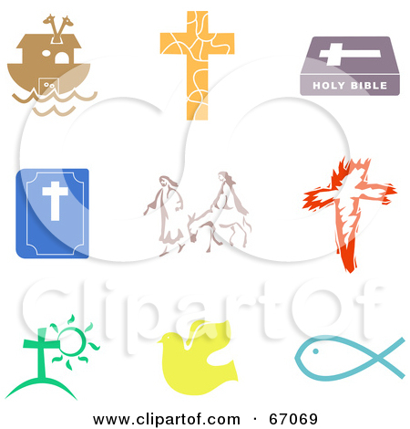 Royalty Free  Rf  Clipart Illustration Of A Silhouetted Cross On A
