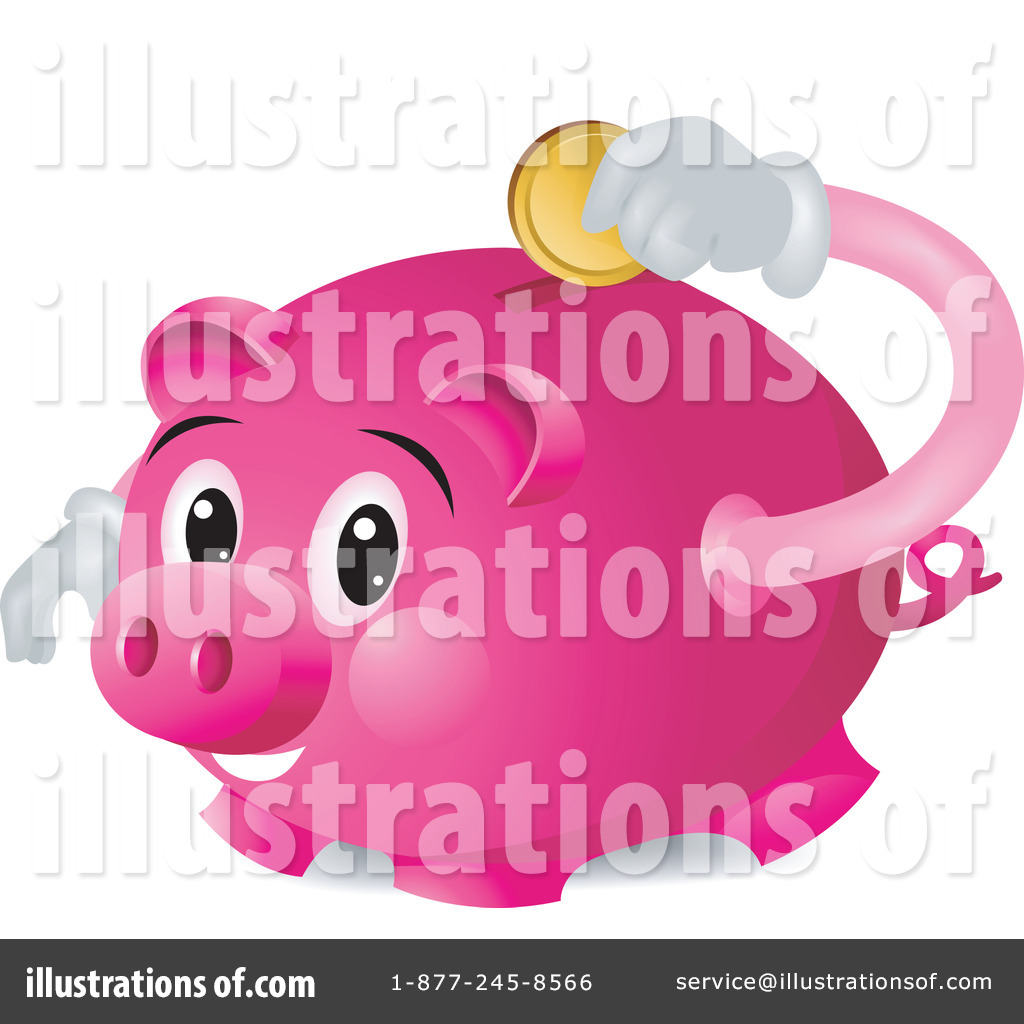 Royalty Free  Rf  Piggy Bank Clipart Illustration By Bnp Design Studio