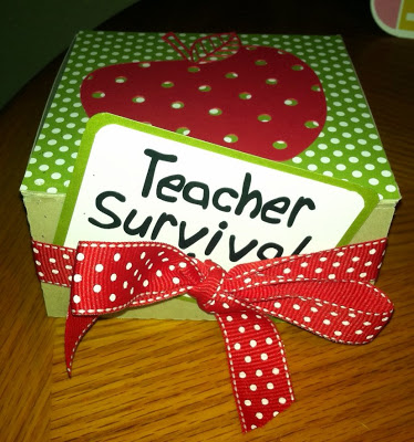 Stamp Crazy Lady  Teacher Survival Kit Class