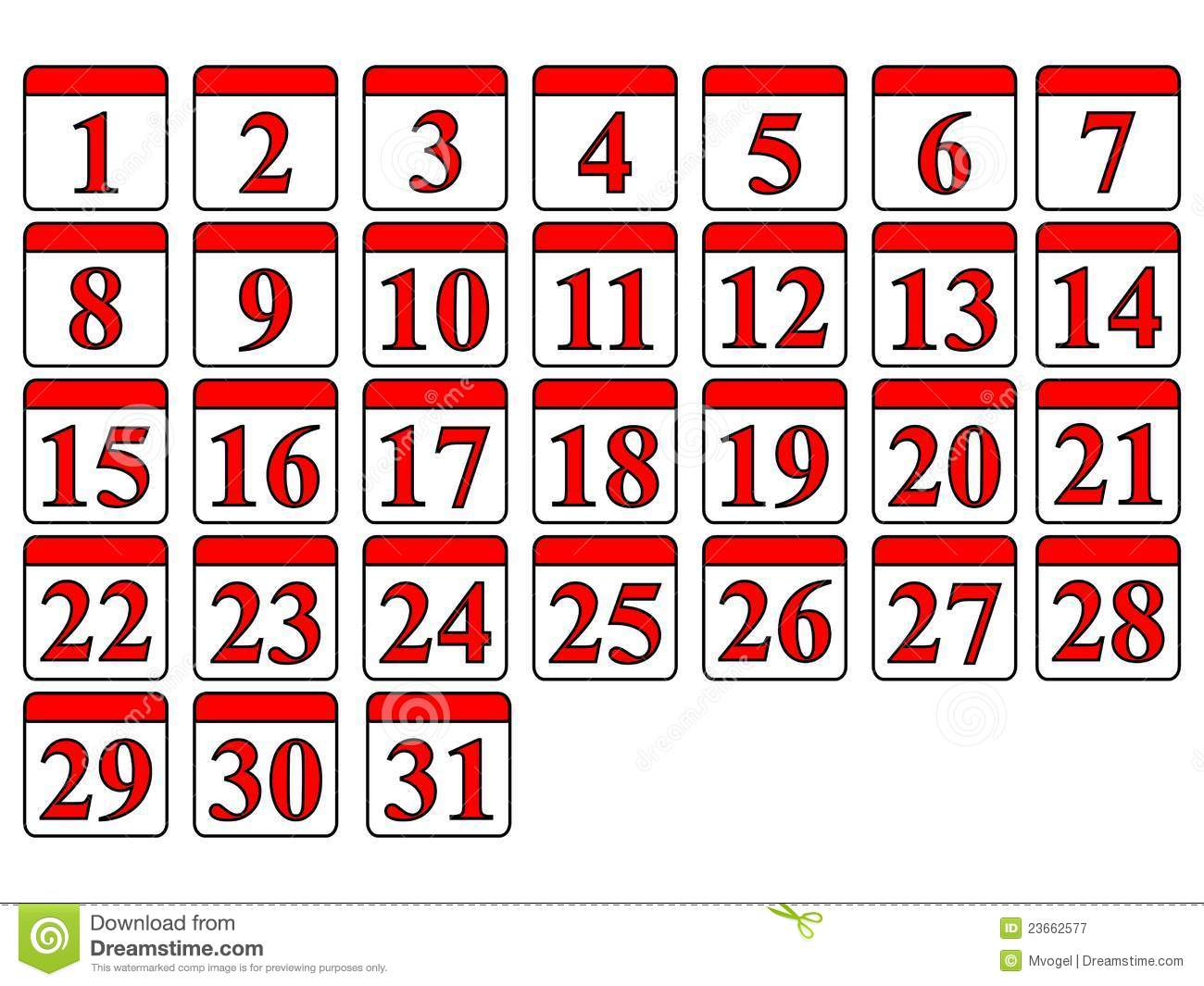 Calendar Numbers Clipart : Days of week calendar clipart suggest