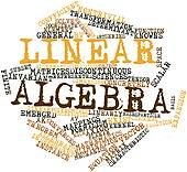 Word Cloud For Linear Algebra   Stock Illustration