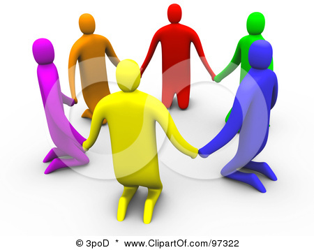 97322 Royalty Free Rf Clipart Illustration Of 3d Colorful People