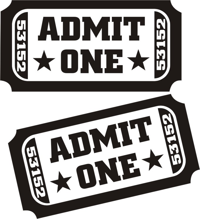 Admit One Ticket Clipart Clipart Kid – Ticket Admit One Template