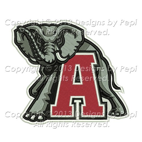Alabama Crimson Tide Alabama Football Machine Embroidery Design