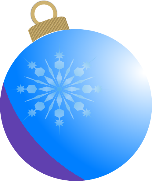 Blue Christmas Ornament Clipart - Clipart Kid