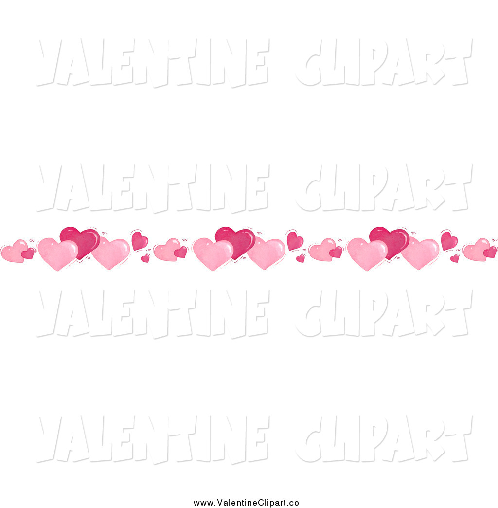 Border Of Valentine Hearts Valentine Clip Art Gina Jane