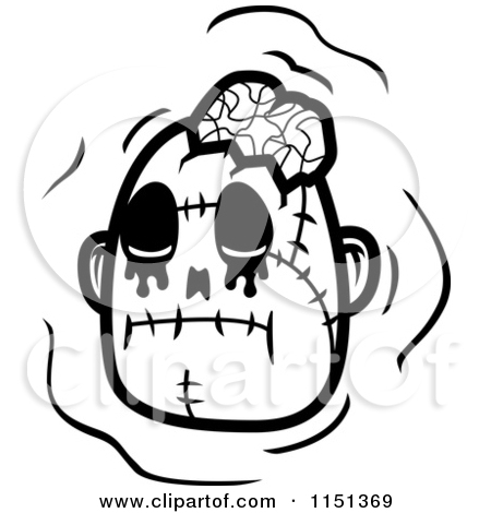 The gallery for --> Zombie Black And White Clipart