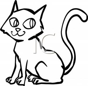 Cat With Spooky Eyes Royalty Free Clipart Picture 101026 025767 169053