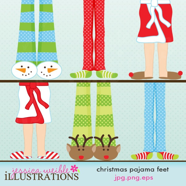 Christmas pj clipart clipart kid