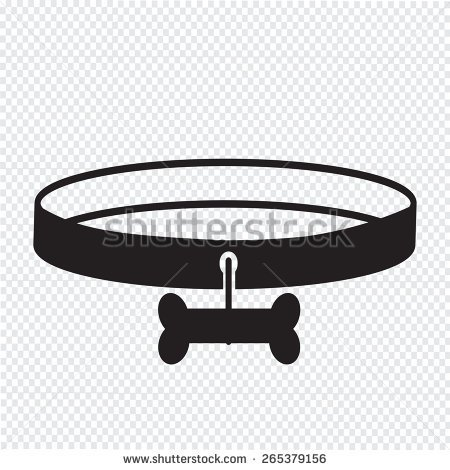 dog collar clipart