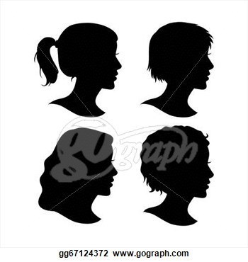 Female Face Silhouette Clipart