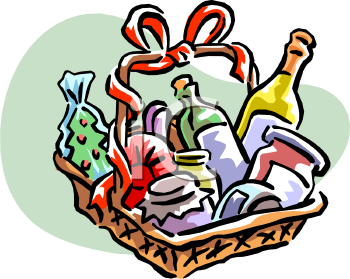 Clip Art Gift Basket Clip Art wine gift basket clipart kid find condiments image 30 of 106