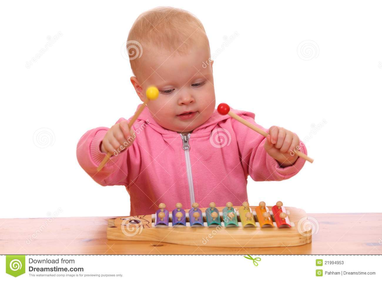 Girl Plays Xylophone Stock Photos   Image  21994953