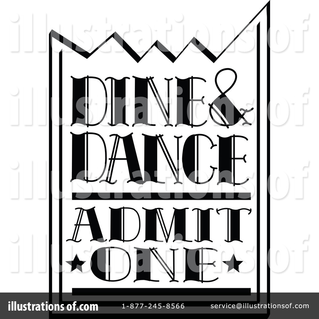 Movie Ticket Black And White Clipart