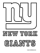 New York Giants Coloring Page