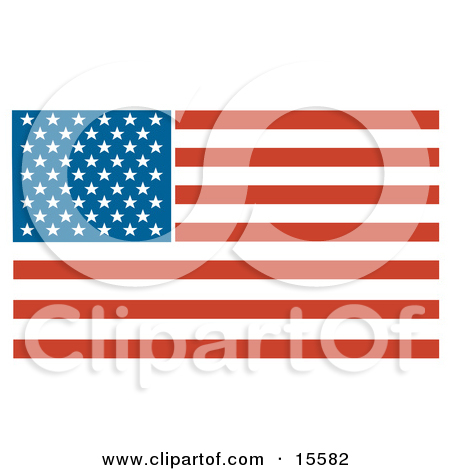 Patriotic American Flag With Stars And Stripes Clipart Illustration By