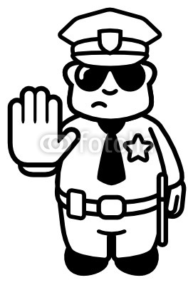 Police Officer Clipart Black And White   Clipart Panda   Free Clipart