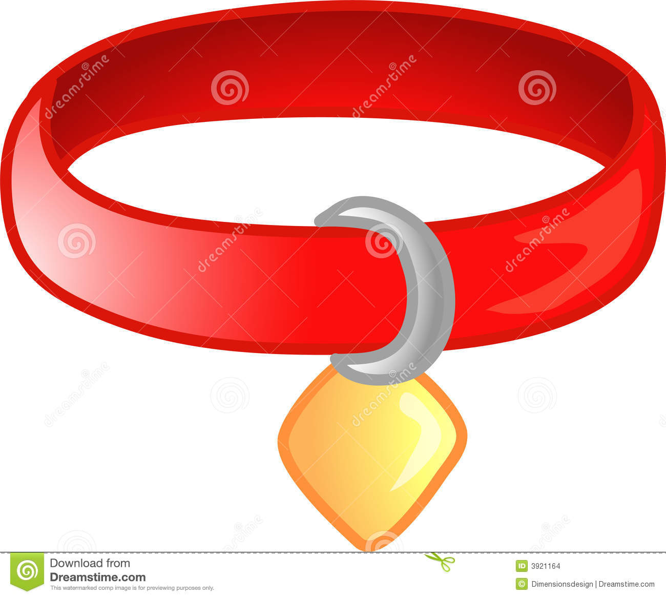 Red Pet Collar Icon Or Symbol Stock Images   Image  3921164