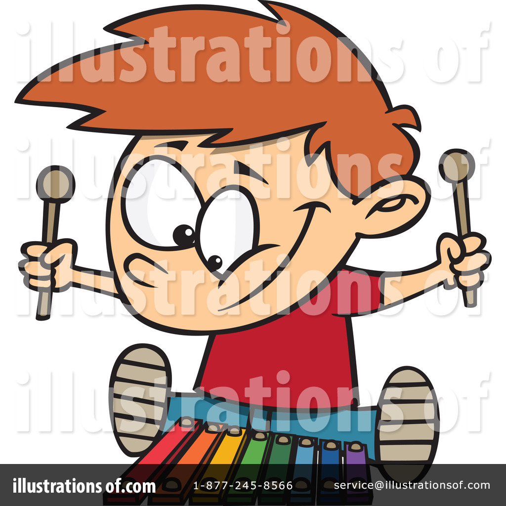 Royalty Free  Rf  Xylophone Clipart Illustration By Ron Leishman