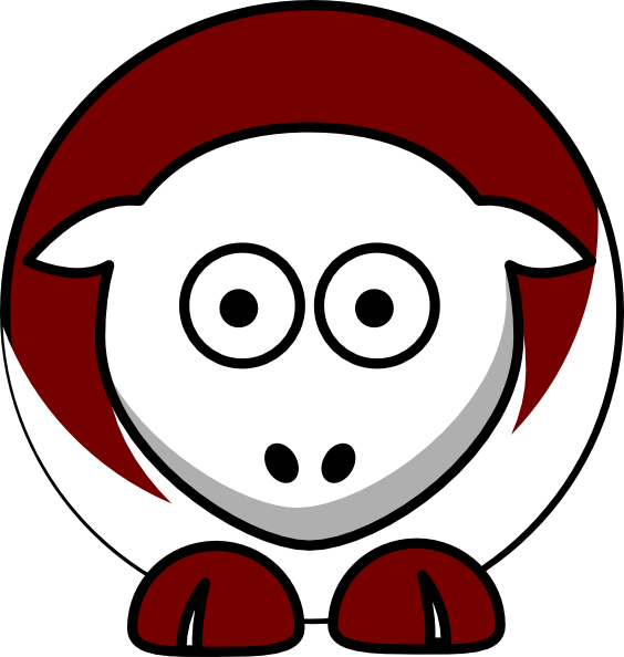 Sheep Alabama A M Bulldogs Team Colors   College Football Clip Art At