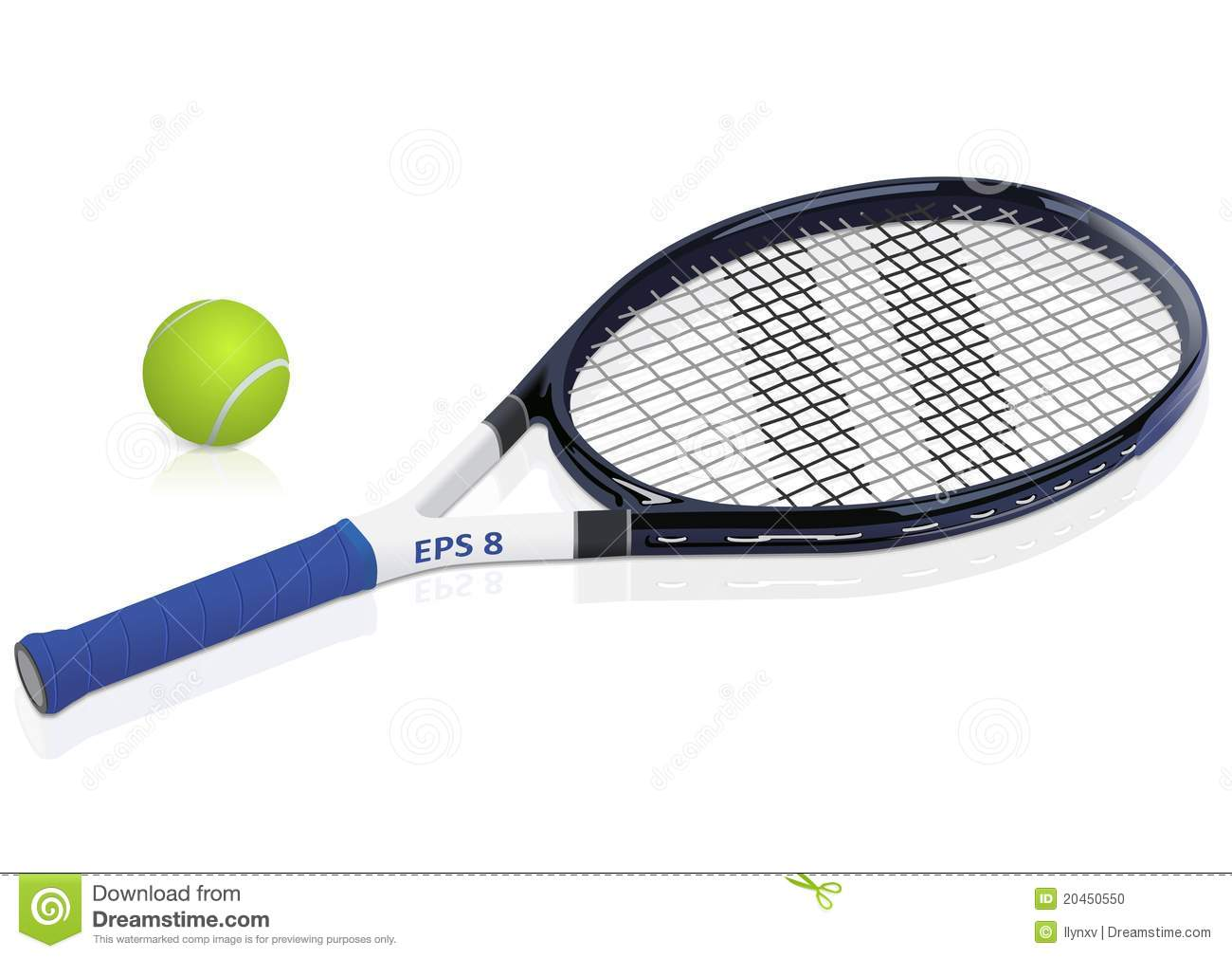 Tennis Racket And Ball Stock Photo   Image  20450550