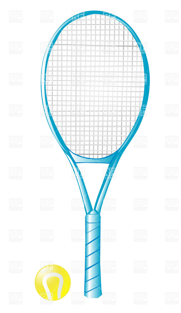 Tennis Racket With Ball Isolated On The White Background Download