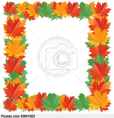 Vector Image Of Fall Leaf Border   Vector Graphics And Images
