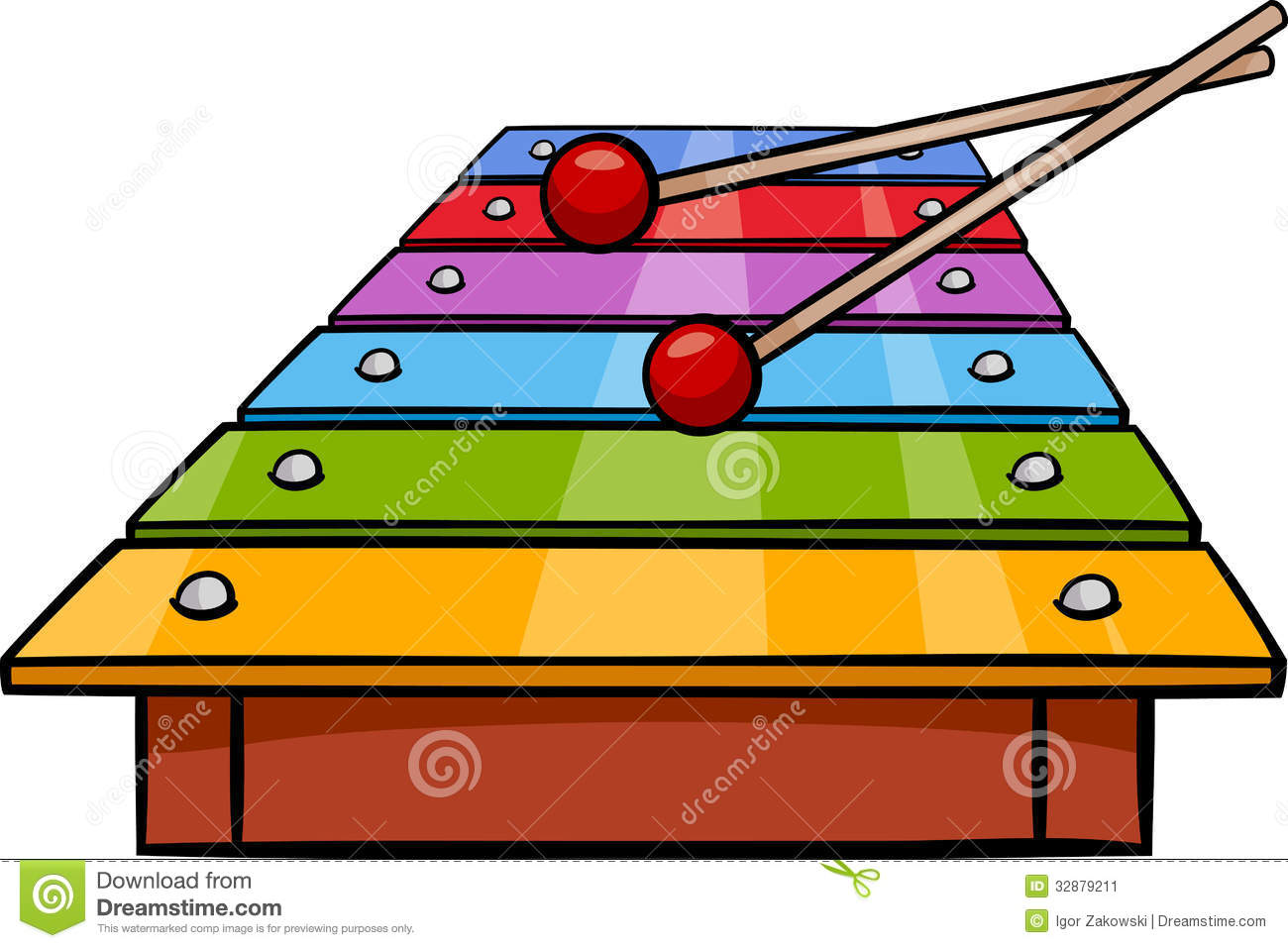 Xylophone Clip Art Cartoon Illustration Stock Image   Image  32879211