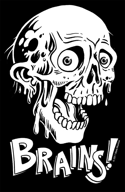 Zombie Black And White Clipart - Clipart Suggest