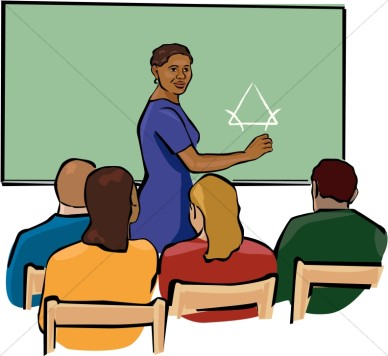African American Teacher Clipart In Color   Christian Classroom