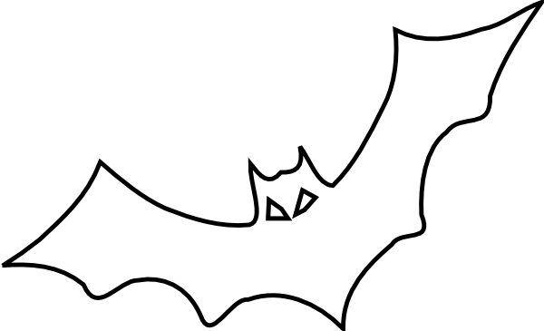 Bat Outline Clip Art At Clker Com   Vector Clip Art Online Royalty