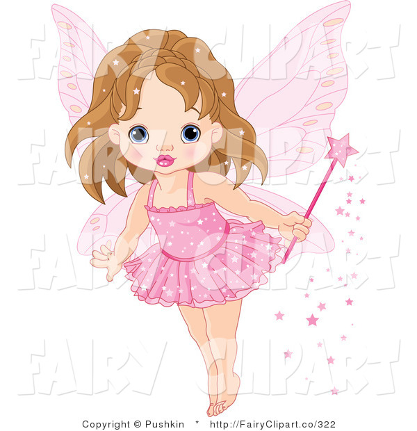 Clip Art Of A Baby Fairy Princess In A Pink Tutu By Pushkin    322