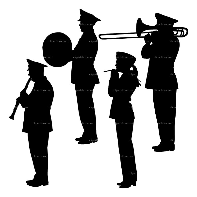 Clipart Military Orchestra   Royalty Free Vector Design
