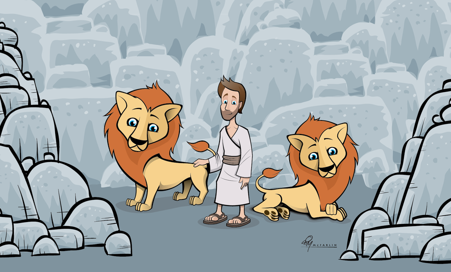 Daniel And The Lions Den Cartoon Daniel And The Lions Den By
